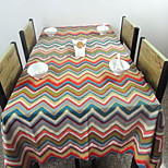 Southeast Asian style Cotton Printed Table Cloth Wave Pattern Refrigerator Towels (140 * 140cm)