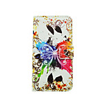 Colorful Butterfly Pattern PU Leather Full Body Case with Stand and Card Slot for LG K10/K8