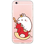 Cartoon Rabbit Pattern TPU Ultra-thin Translucent Soft Back Cover for Apple iPhone 6s 6 Plus SE/5s/5