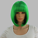 Short Wigs New Synthetic Bob Wigs Short Straight Highlight Hair Apple Green Bobo Wig For Women Glamorous Fashion