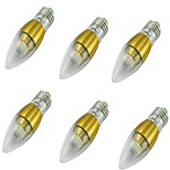 YouOKLight 6PCS  E27 5W 50xSMD3014 500LM 3000K Warm WhiteLED Candle Bulbs AC85-265