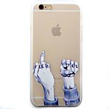 Funda Trasera Esmerilado Other TPU Suave 个性图案 磨砂软包 Cubierta del caso para Apple iPhone 6s Plus/6 Plus / iPhone 6s/6