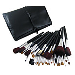 34 Makeup Brushes Set Goat Hair Portable Wood Face ShangYang