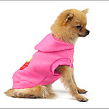 Cat / Dog Coat Pink Winter / Spring/Fall Fruit Holiday, Dog Clothes / Dog Clothing