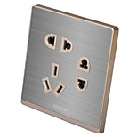 Gray Brushed Metal Switch Socket Seven Holes (Q5)