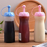 Leakproof Plastic Sauce Squeeze Bottle Oiler Extrusion Pastry Tips Shaker (Random Color)