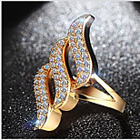 Ring Fashion Daily / Casual Jewelry Copper Women Band Rings 1pc,6 / 7 / 8 Gold