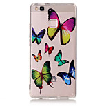 TPU Material Butterfly Pattern Painted Relief Phone Case for Huawei P9 Lite/P9/P8 Lite