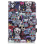 PU Leather Material Skull Embossed  Pattern Tablet Sleeve for iPad mini 4