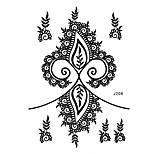 1pc Waterproof Tattoo Floret Earring Woman Body Art Black Henna Temporary Tattoo Sticker BJ208