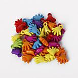 beadia una variedad de granos de acrílico color Forma de 15x17mm palma espaciador plástico perlas sueltas (50g / aprox 85pcs)