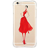 Shockproof/Dustproof/Pattern Sexy Lady TPU Soft Case For Apple iPhone 6s Plus/6 Plus/iPhone 6s/6/iPhone SE/5s/5