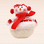1pc Christmas Tree Decoration Red Scarf Snowman Pendant Holiday Dinner Party Supplies