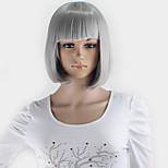 Kuriyama Mirai Women's Party Lolita Gray Cosplay Synthetic Hair Anime Short Wigs Silver gray wig