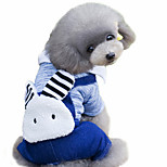 Dog Coat Green / Blue Winter / Spring/Fall Animal / Jeans Cosplay / Sports / Fashion / Casual/Daily, Dog Clothes