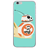 Orange Robot Pattern  Transparent TPU Material Phone Case for iPhone 6 6S  6 Plus 6S Plus