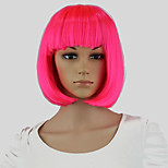 Pink Hair Dye Women Short Bob Perucas Wavy Cosplay Sexy Party Hairstyle Wigs Pink Hair Dye