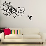 AYA™ DIY Wall Stickers Wall Decals, Flower Rattan & bird Type PVC Panel Wall Stickers 55*80cm