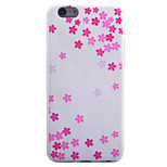 Für iPhone 6 Hülle / iPhone 5 Hülle Muster Hülle Rückseitenabdeckung Hülle Blume Weich TPU Apple iPhone 6s/6 / iPhone SE/5s/5