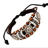 Bracelets Wrap / Bracelets en cuir 1pc,Style Punk Others Café Alliage / Cuir Bijoux Cadeaux