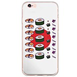 Sushi Pattern TPU Ultra-thin Translucent Soft Back Cover for Apple iPhone 6s Plus/6 Plus/ 6s/6/ SE/5s/5