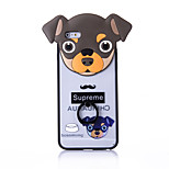 Ring Holder / Frosted / Embossed / Pattern Cute Dog PC Hard Ring Holder Case Cover For iPhone 6/6s/6plus/6s plus