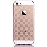 Per retro Traslucido / A fantasia disegno geometrico TPU Morbido Copertura di caso per Apple iPhone SE/5s/5