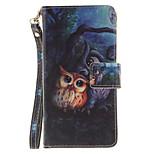 Painted Owl Pattern Card Can Lanyard PU Phone Case For Huawei P9 Lite P9 P8 Lite
