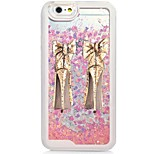 High-heeled Shoes Back Flowing Quicksand Liquid/Printing Pattern PC Hard Case For iPhone 6s Plus/6 Plus/6s/6/SE/5s/5