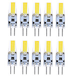 6W G4 Luces LED de Doble Pin T 1 COB 400-500 lm Blanco Cálido / Blanco Fresco / Blanco Natural Decorativa / Impermeable DC 12 V 10 piezas