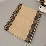 Yellow Linen Table Runners Tablecloths Table Runners Wedding Arts And Crafts Christmas Party Decoration 30 * 275