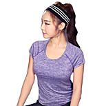 Laufen T-shirt / Sweatshirt Damen Kurze Ärmel Atmungsaktiv / Rasche Trocknung / Schweißableitend / Komfortabel / ReflexstreiffenElastan /