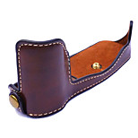 Dengpin® PU Leather Half Camera Case Bag Cover Base for Olympus PEN-F penf (Assorted Colors)