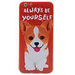 Puppy Pattern Soft Borders+3D Basso-Relievo Backplane Combo Shockproof Phone Case for iPhone 6/6S/6 Plus/6S Plus