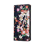Rhinestone Bling Leather Case For Sony Z5Mini/Z5/Z3Mini/Z4/Z3/E5/C6 Ultra  Flip Cover Print Flower