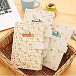 Spring Flower Autumn Moon Magnetic Buckle Notebook