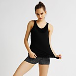 MIDUO Sports Women's Breathable Yoga Tops Black-YAO 003