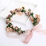 Korean Bridal Wreath Flower Fairy Bride Accessories Sen Female Line Handmade Flower Wreath Hat