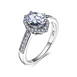 All Seasons Fashion 925 Sterling Silver Ring For Women Wedding Cubic Zircon Ring Silver Jewelry