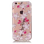 Para Funda iPhone 6 / Funda iPhone 6 Plus / Funda iPhone 5 Ultrafina / En Relieve / Diseños Funda Cubierta Trasera Funda Flor Suave TPU