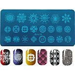 DIY Beauty Image Nail Stencils Nail Art Stamping Plates Fashion Geometry Designs Polish Templates