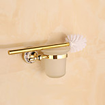 Toilet Brush Holder / Gold / Wall Mounted /15*8*5cm /Stainless Steel /Contemporary /8cm 15cm 0.23