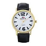 Heren / Dames Dress horloge / Modieus horloge Kwarts / Leer Band Vintage / Vrijetijdsschoenen Zwart / Blauw / Rood / Roze / Beige Merk