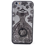 PC+TPU Material Wedding Frosted Relief Bracket Phone Case For iPhone 6s/6/6s Plus/6 Plus
