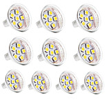 3W GU4(MR11) Luces LED de Doble Pin MR11 6 SMD 5050 350 lm Blanco Cálido / Blanco Fresco Decorativa DC 12 V 10 piezas