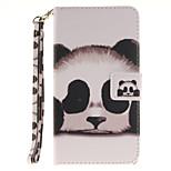 Painted Panda Pattern Card Can Lanyard PU Phone Case For LG G3 G4 G5 K7 K8 K10
