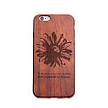 Natural Wood Lucky Flower Ultra Thin Protective Back Cover iPhone Case for iPhone 6S Plus/6 Plus/6S/6