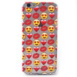 Für iPhone 6 Hülle / iPhone 6 Plus Hülle Muster Hülle Rückseitenabdeckung Hülle Herz Weich TPU Apple iPhone 6s Plus/6 Plus / iPhone 6s/6
