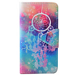 Campanula Dream Catcher Pattern PU Material Card Phone Case For IPhone 7 5 5s se 6 6s 6 Plus  6s Plus