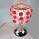 roses 1pc lampe douce aing type de lampe à huile essence tactile lampe de bureau cadeau décoré branché sur l'électricité